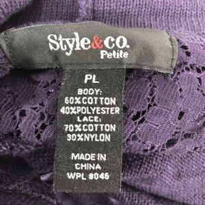 a8fd66c9ae1 Style   Co Sweaters - Style   Co Petite Cowl Neck Lace Sweater PL